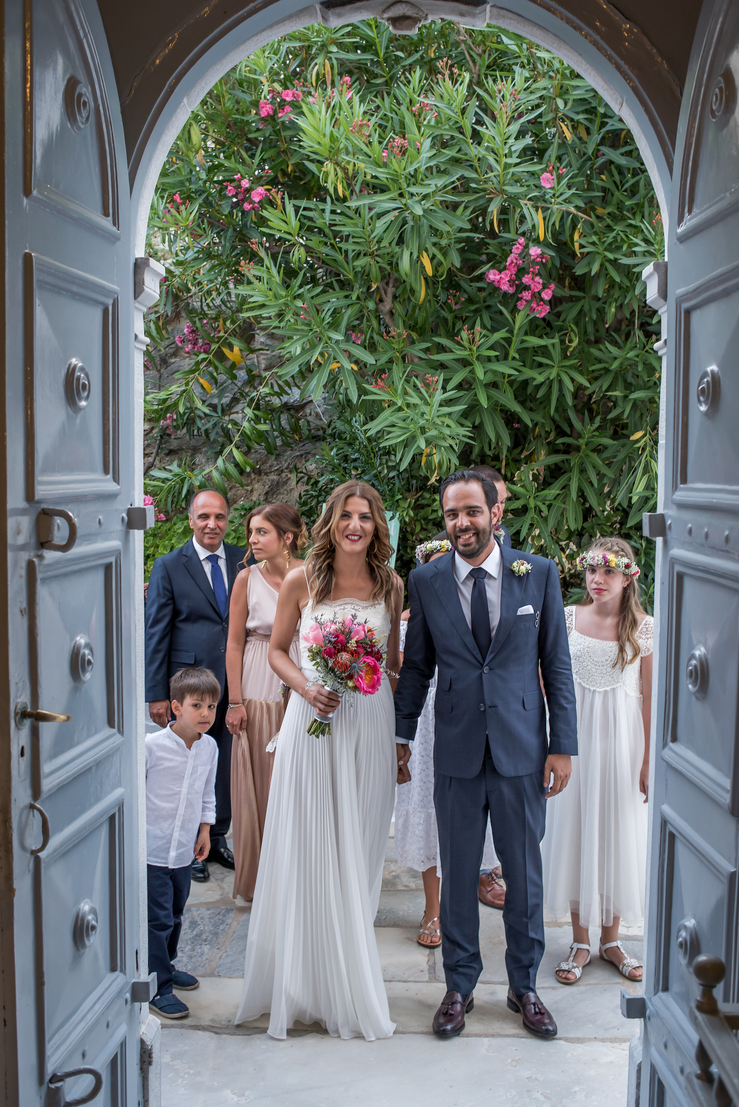 Splash of Fuschia | Alexia & Babis' Wedding in Syros | lafete